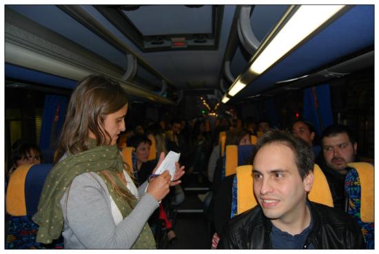 De camino a Lastres en el autobús