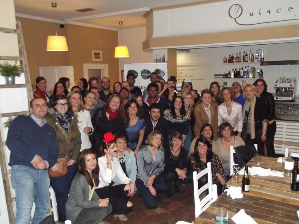 Asistentes al evento, trabajadores de Dupont Asturias